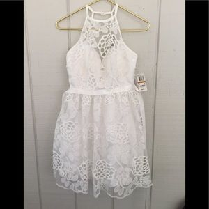 B Dalin White Prom Party Cocktail dress 3/4 NWT